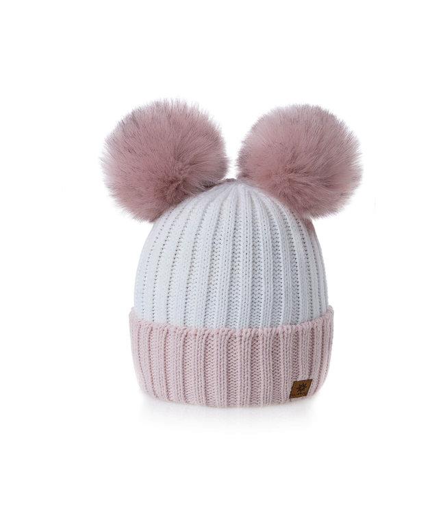 Woolk Miki pom pom Pink/White