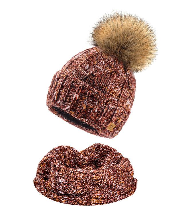 Woolk Hat & Scarf Set-Mary