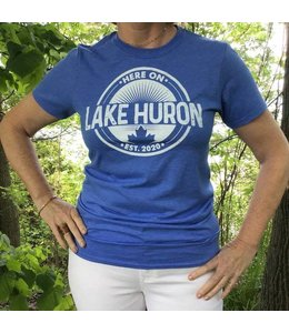 Here on Lake Huron T-shirt - Bayfield Blue