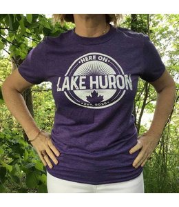 Here on Lake Huron S/S Tshirt - Twilight Haze
