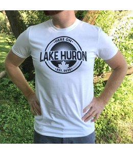 Here on Lake Huron S/S Tshirt - White