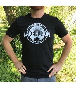 Here on Lake Huron S/S Tshirt - Black