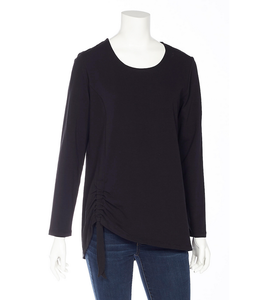 DKR and Apparel L/S Top w Faux Tie Black