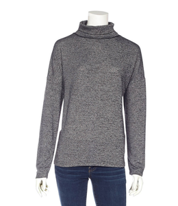 DKR and Apparel L/S  boxy fit t/n top -drk grey