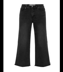 Tribal Wide leg crop jean-faded black