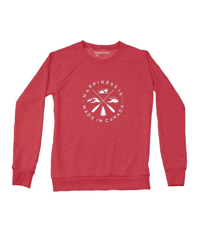 Happiness is... Made in Canada Sweatshirt-Chili