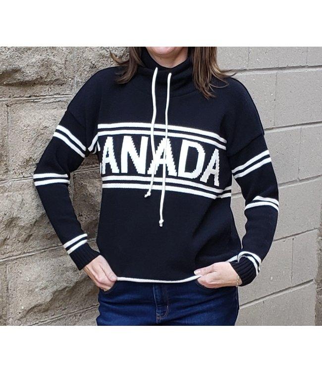 Parkhurst Canada drawstring sweater-Black