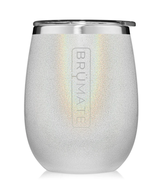 Uncork'd wine tumbler Glitter White