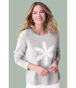 Tribal Snowflake sweater-Grey mix