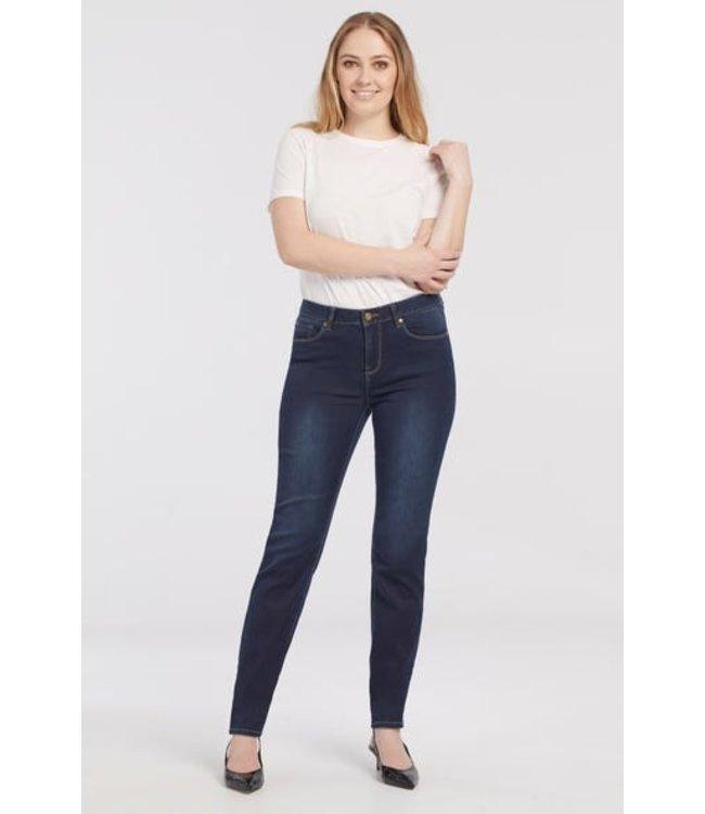 Tribal 5 pkt. straight leg jeans-Navy