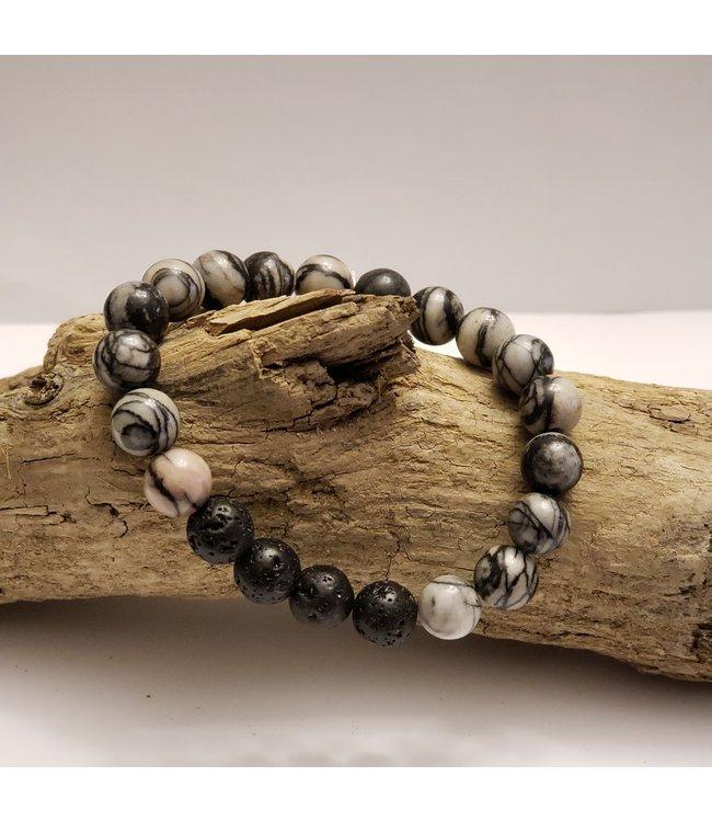 Kristin's Beads Silk stone