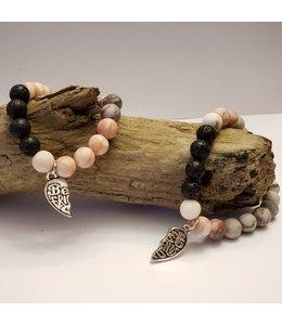 Kristin's Beads Friendship bracelet-Pink Zebra Jasper