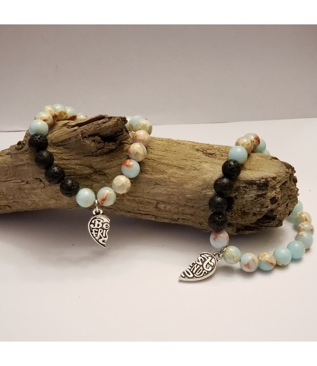 Kristin's Beads Friendship bracelet set-Impression Jasper