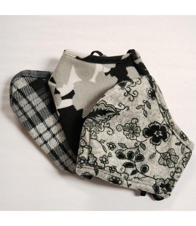 Point Zero Mask 3 pack- floral , camo, plaid