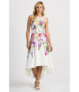 Joseph Ribkoff Vanilla/Multi high low floral dress
