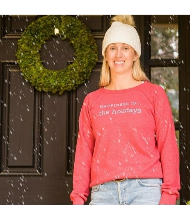 Happiness is... Happiness is.. The Holidays Sweatshirt-Chili