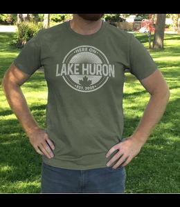 Here on Lake Huron S/S Tshirt - Dirty Martini Green