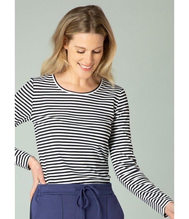 Yest Gunes Shirt-White/Dark Blue