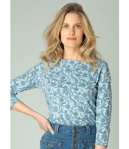 Yest Gracelyn Shirt- Chambray/Dark Blue