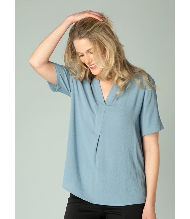 Yest Gwenisha Blouse-Grey Blue