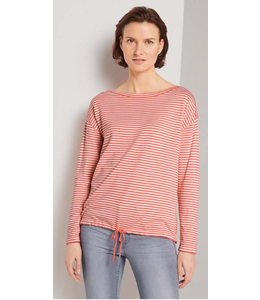 Tom Tailor Striped pull over w/strings pink