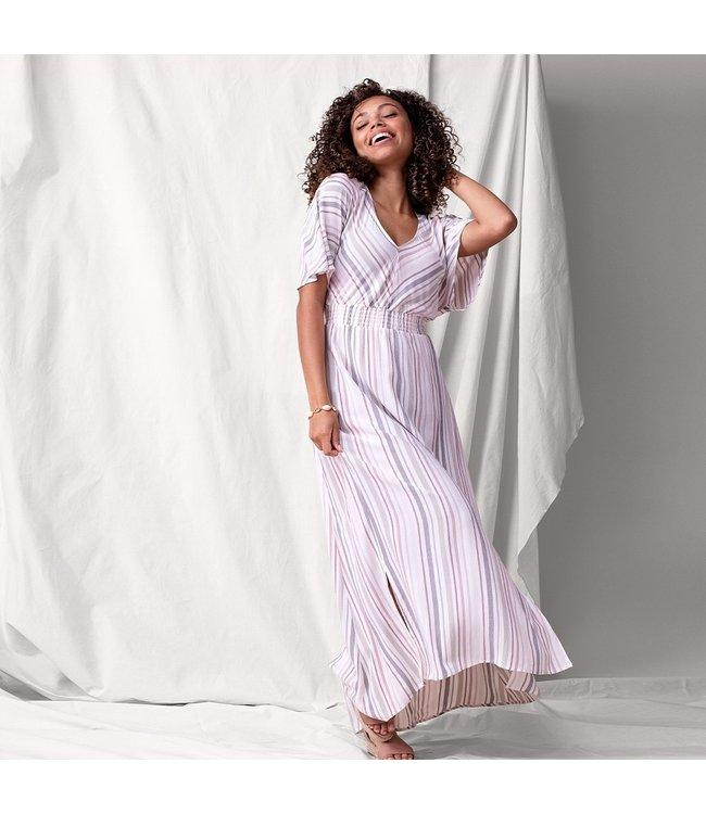 Tribal High/low smocked dress- Linen
