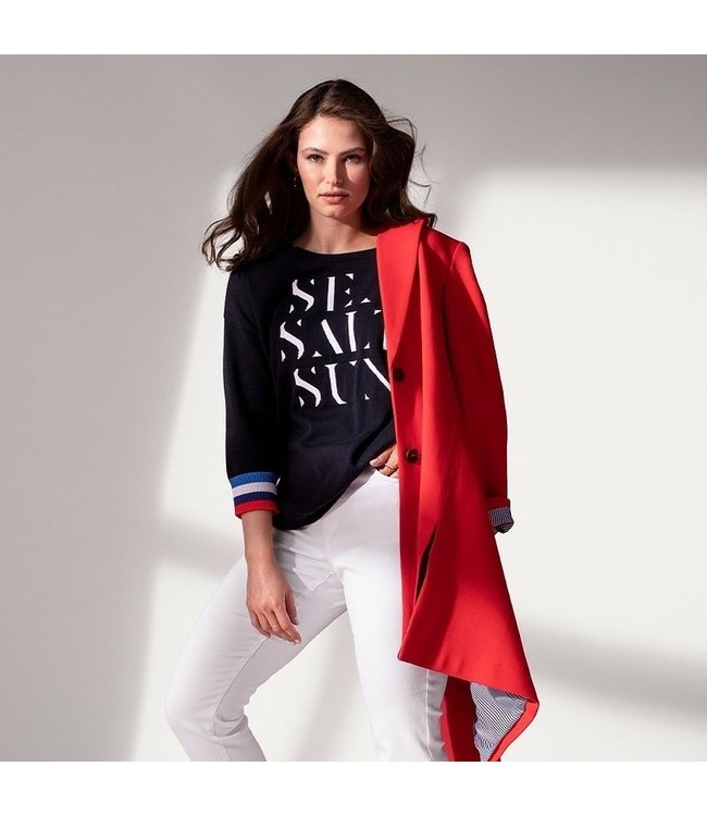 Tribal Sea/salt/sun sweater- Ink