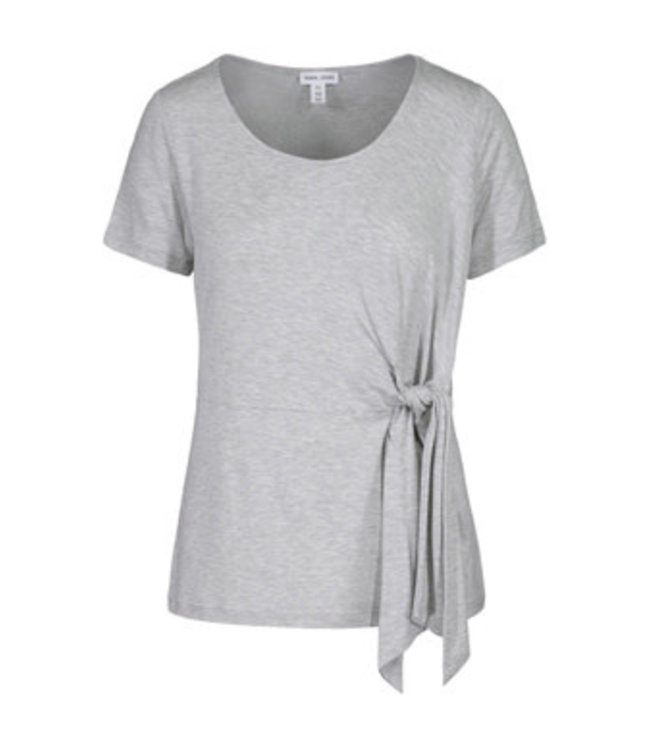 Tribal Short sleeve top with side tie - Grey Mix
