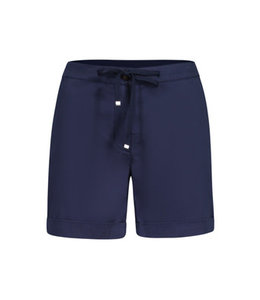 Tribal Fly Front Shorts with  Cuffs - Deepblue