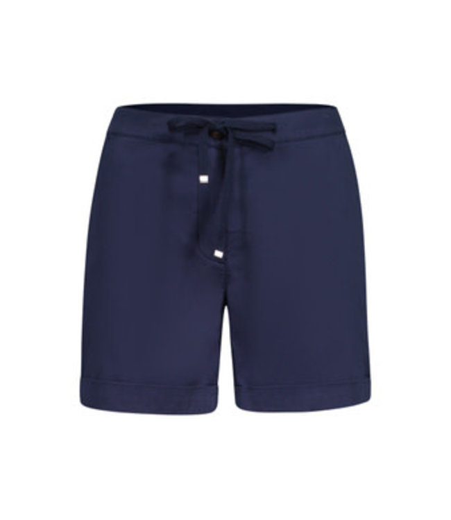 Tribal Fly Front Shorts with  Cuff- Deepblue