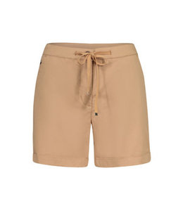 Tribal Fly Front shorts with cuffs -        Dune