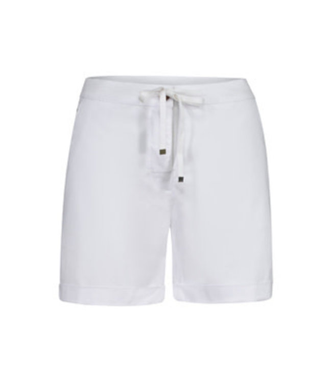 Tribal Fly front shorts with cuffs - White