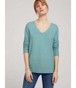 Tom Tailor 2 tone pullover- Green