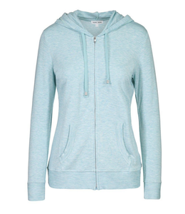 Tribal Zip Up Hoodie Surf Blue