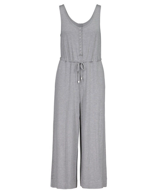Tribal Jumpsuit with Snaps- Grey Mix