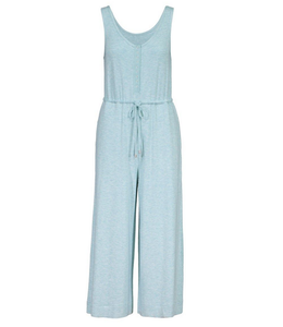 Tribal Jumpsuit with  Snaps- Surf Blue