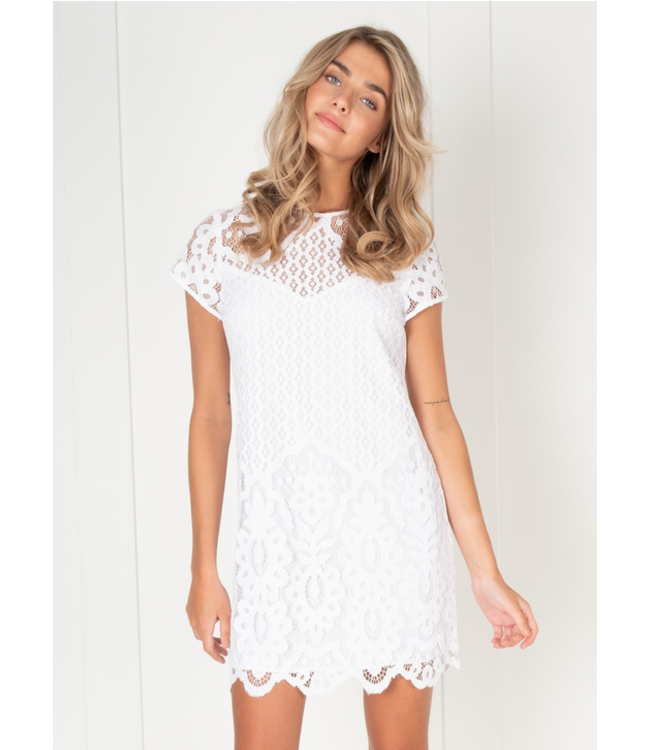 Point Zero Lace dress- White