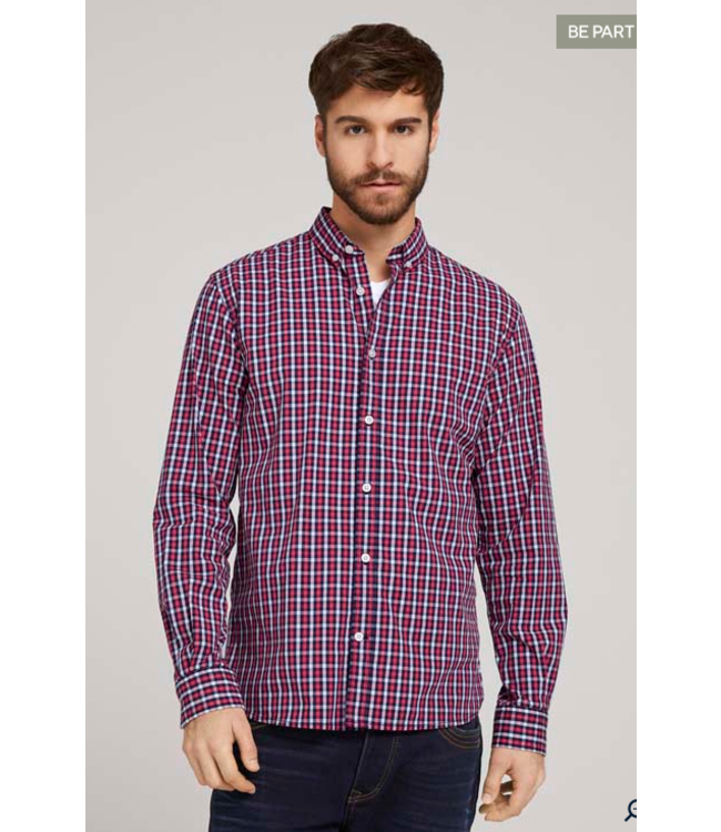 Tom Tailor L/S check shirt- Red