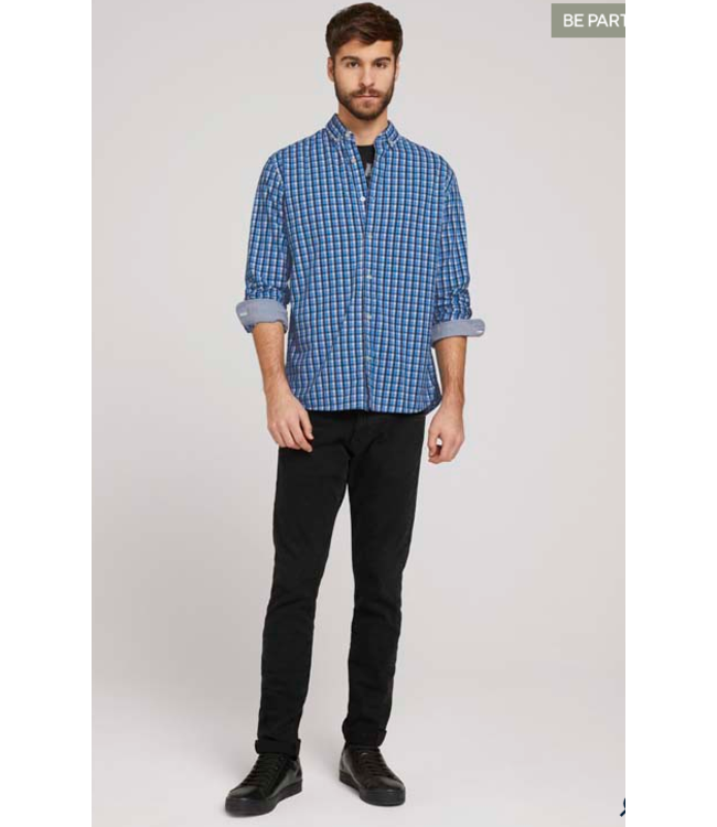Tom Tailor L/S check shirt-Blue