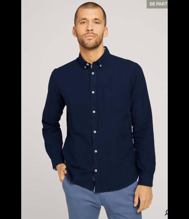 Tom Tailor L/S Oxford shirt Navy