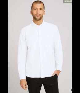 Tom Tailor L/S Oxford shirt- White