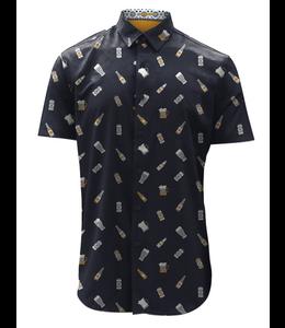 Point Zero men Men S/S Beer Shirt Navy