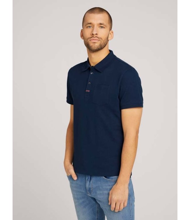 Tom Tailor S/S Polo Shirt- Navy