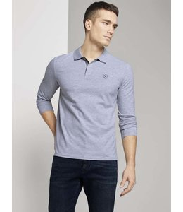 Tom Tailor L/S Organic Polo- Grey