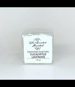 The Scented Market Sugar Scrub Cubes Eucalyptus Lavender
