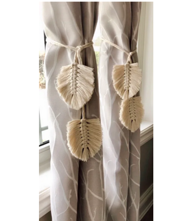 Earthly Basics Curtain Tie Sets- Natural