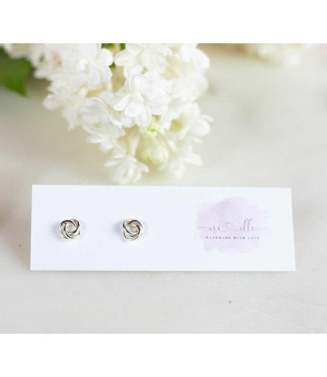Ari Elle Jewelry Love Knots- Sterling silver