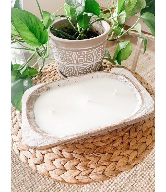 The Scented Market White Dough Bowl- Raspberry Bush