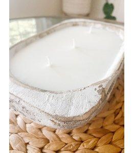 The Scented Market White Dough Bowl- Peaches