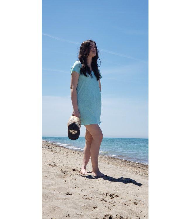 Short sleeve  fitted dress- Splash